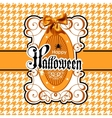 Halloween isolated on white vector image vector image