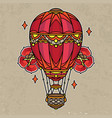 hot air balloon tattoo flash vector image vector image