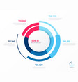 infographic round chart template five vector image vector image