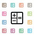 isolated subtraction icon calculator vector image
