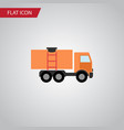isolated truck flat icon van element can vector image