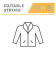 jacket editable stroke line icon vector image vector image