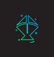 kite icon design vector image