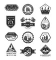 landscape design company icons set vector image vector image