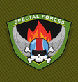 Military Emblem with a skull and the weapon Wings vector image vector image