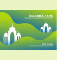 mosque muslim icon simple background design vector image