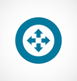 move bold blue border circle icon vector image