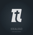 N and T logo T and N monogram logotype design vector image