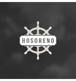 Nautical Logotype Design Element in Vintage Style vector image vector image