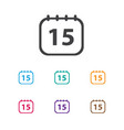 of office symbol on calendar vector image vector image