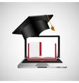 online education concept book learning vector image vector image