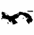 panama silhouette map vector image vector image