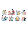 people popping question marriage proposals of vector image vector image