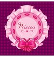 Pink princess pillow vector image vector image