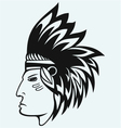 Portrait of american indian vector image vector image