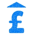 Pound Up Grainy Texture Icon vector image vector image