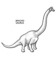 realistic graphic dinosaur vector image vector image