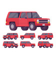 red offroad set vector image vector image