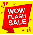 Sale poster with WOW FLASH SALE text Advertising vector image