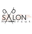 salon hairstyle design vector image vector image