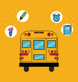 school supplies cartoons vector image
