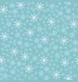 seamless christmas snowflake blue background vector image