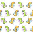 seamless dinosaur pattern funny cute dino vector image