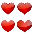 Set Of Glossy Hearts Icon Design vector image vector image