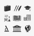 set symbols education vector image vector image