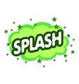 splash icon pop art style vector image
