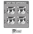 spot the difference black fish vector image vector image