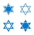 star israel icon vector image