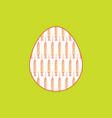 syringes pattern inside easter egg shape design vector image