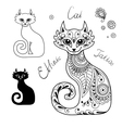 The Cats in the ethnic style vector image