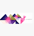 triangles and circle geometric background vector image vector image