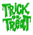 trick or treat lettering phrase isolated on white vector image
