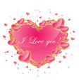 valentines day abstract background with pink heart vector image vector image