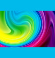 wave background abstract colorful poster with 3d vector image vector image