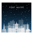 winter night in fort wayne night city vector image vector image