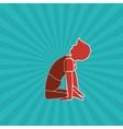 Yoga icon design vector image vector image