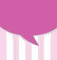 comic speech pink vector image