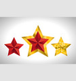 3 gold stars year holiday 3d