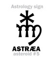 astrology asteroid astr vector image vector image