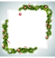 Blank Sheet of Paper With Christmas Attributes vector image vector image