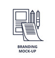 branding mock-up line icon concept branding mock vector image