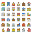 Building construction filled outline icon set 33