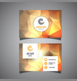 business card template with low poly design vector image vector image