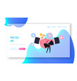 business etiquette dress code landing page vector image vector image
