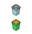 cat in box vector image