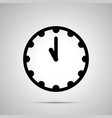 clock face showing 11-00 simple black icon on vector image vector image